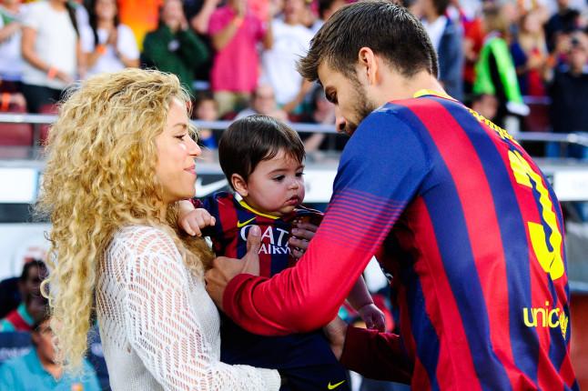 Shakira, Pique e il figlio Milan