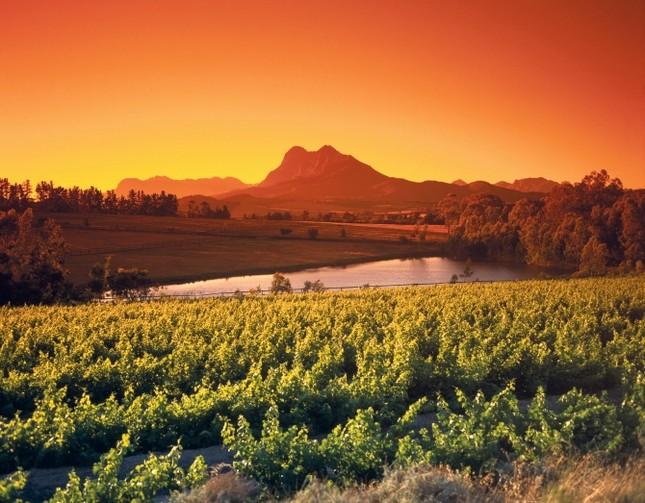 Un suggestivo tramonto sudafricano a Western Cape