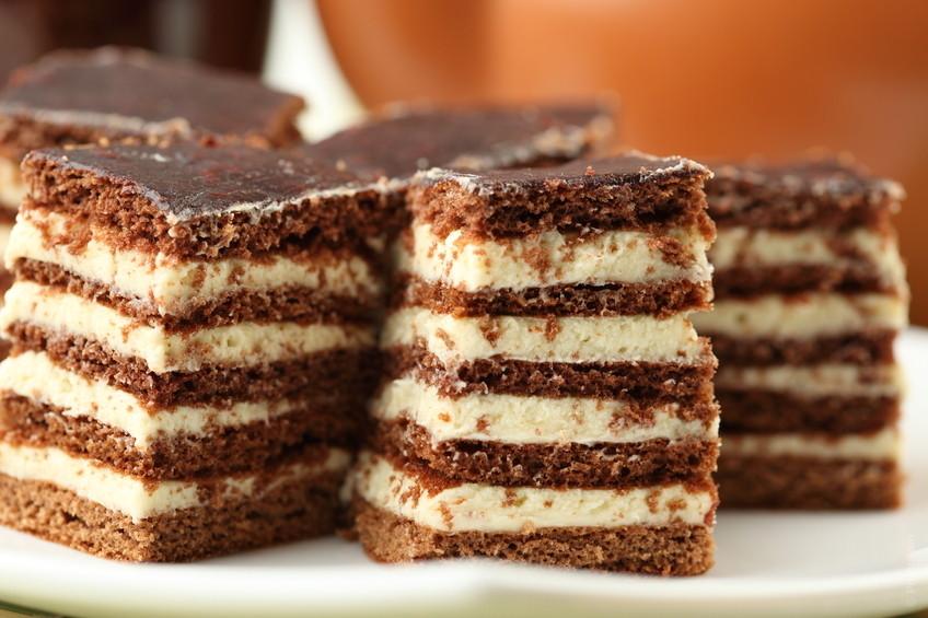 Torta cioccolato al latte e bianco.