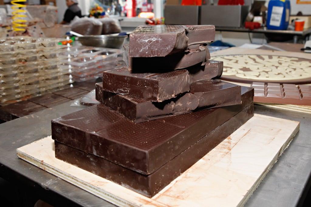 Cioccolato pronto per la lavorazione.