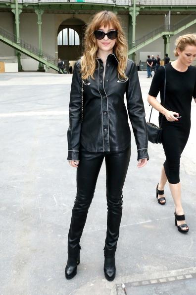 L'attrice alla sfilata Chanel Haute Couture