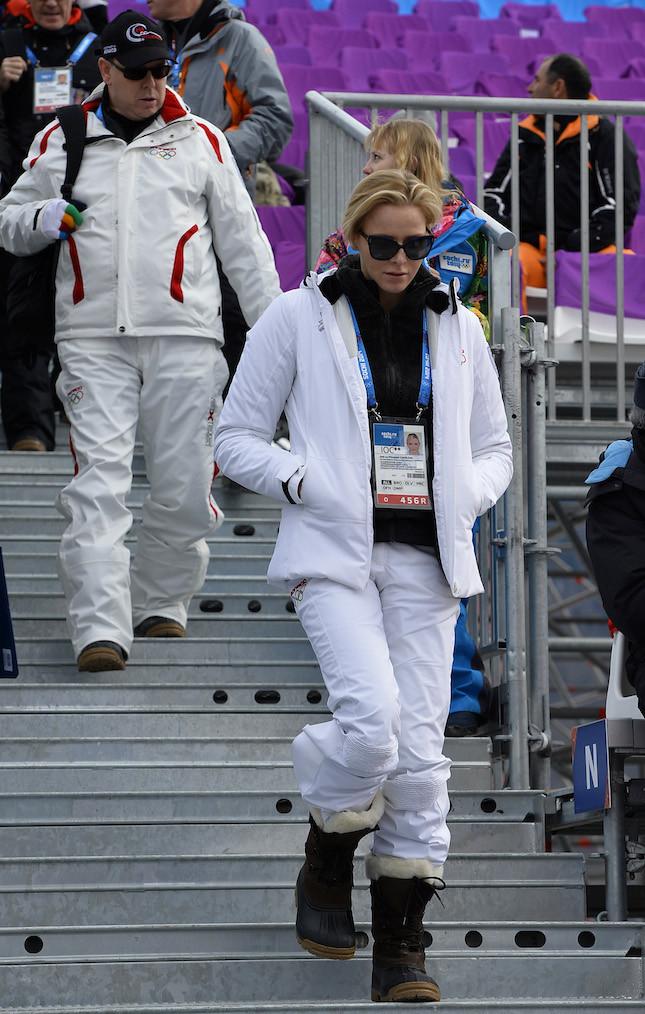 Charlene in abbigliamento sporty in occasione delle Olimpiadi di Sochi