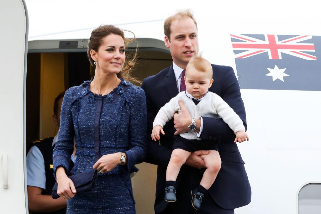 Il Duca e la Duchessa di Cambridge insieme al piccolo George durante la visita che li ha visti impegnati per settimane tra Australia e Nuova Zelanda