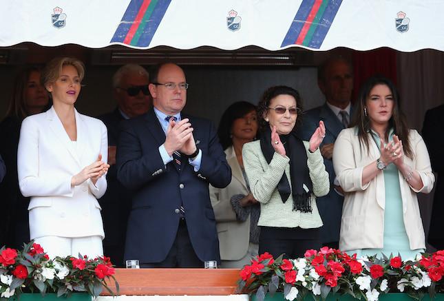 Charlene ed Alberto di Monaco durante l'ATPMonte Carlo Rolex Masters Tennis