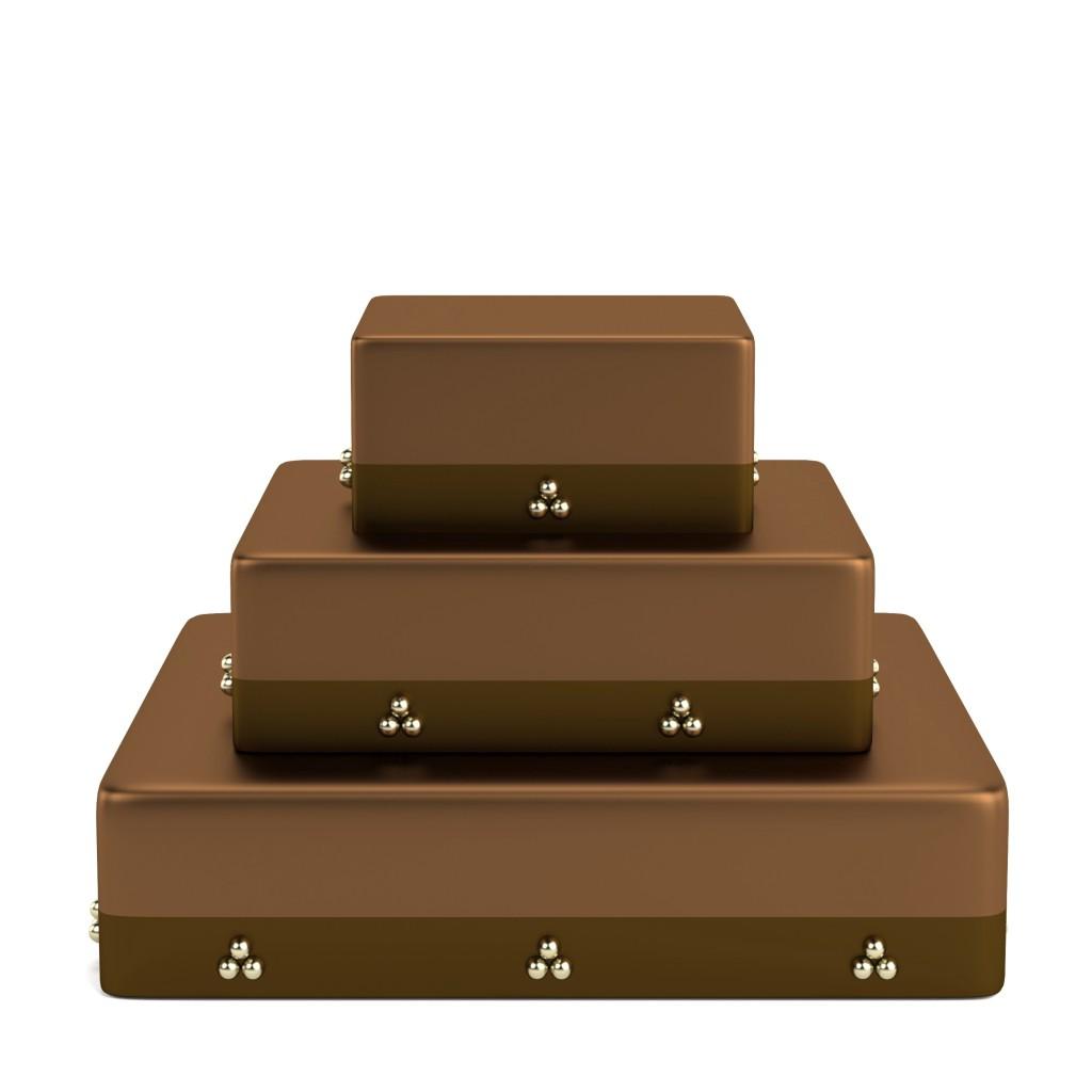 Base per torta a piani al cioccolato.