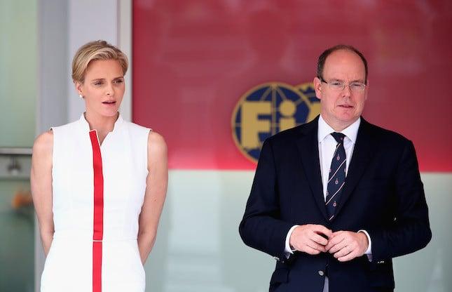 Charlene ed Alberto di Monaco durante il Grand Prix di Maggio 2014 a Monte Carlo