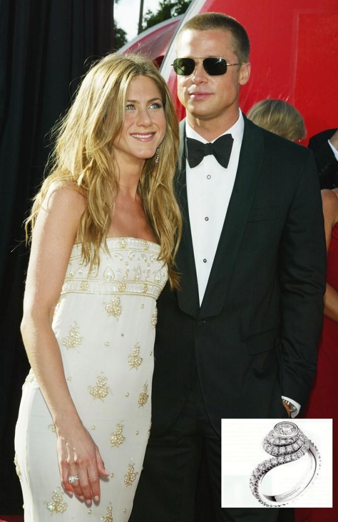 Anello di fidanzamento regalatele da Brad Pitt