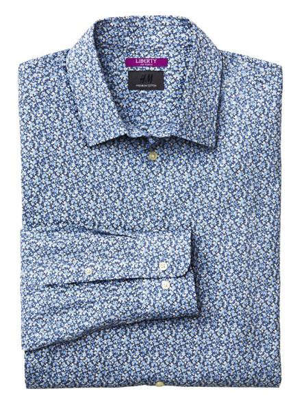 H&M e Liberty capsule collection: una delle quattro camicie in vendita a partire da settembre 2014
