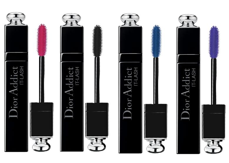 Mascara colorato It Lash di Dior - oltre al classico nero, troviamo le tonalità viola, blu elettrico e  rosa shocking.