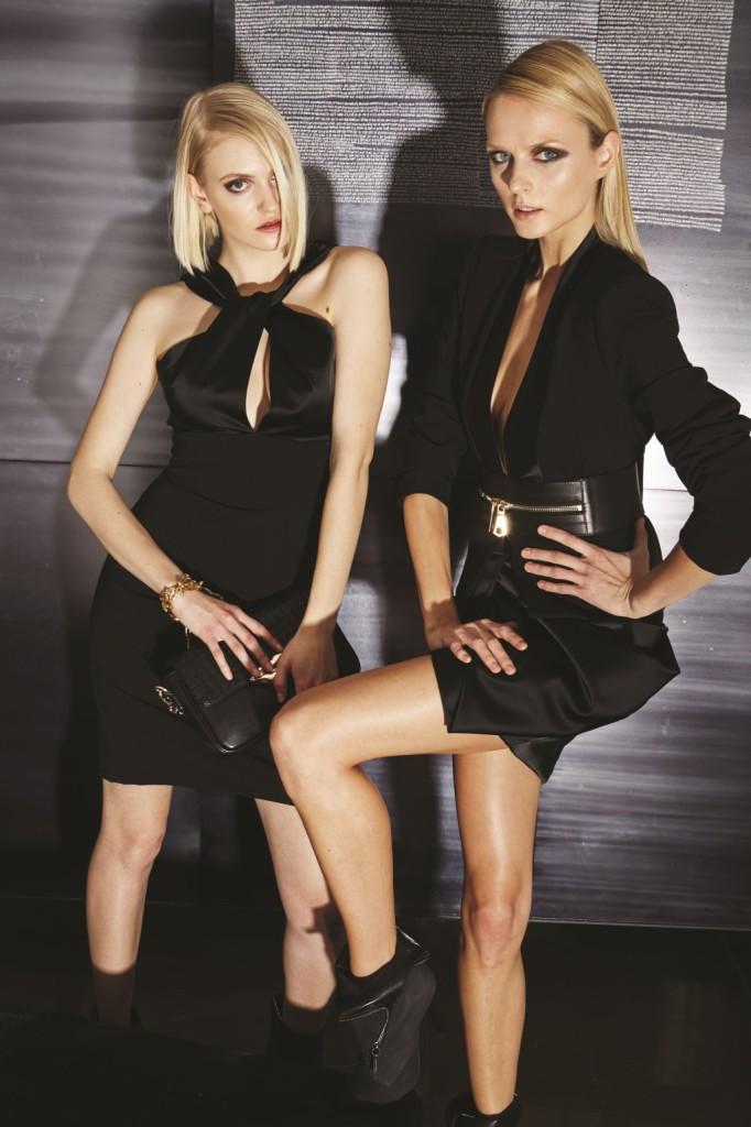Look total black e gonne cortissime per la collezione FW 2014-15 del brand