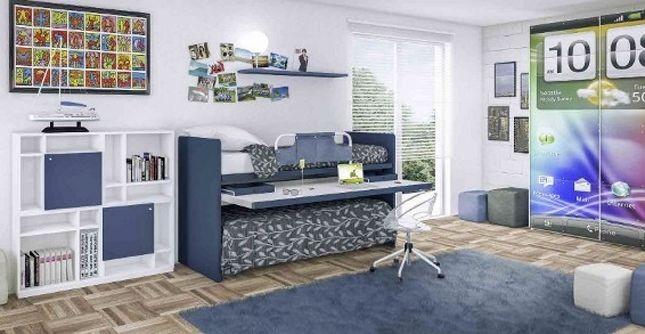Un innovativo angolo studio a scomparsa con scrivania estraibile Cia International