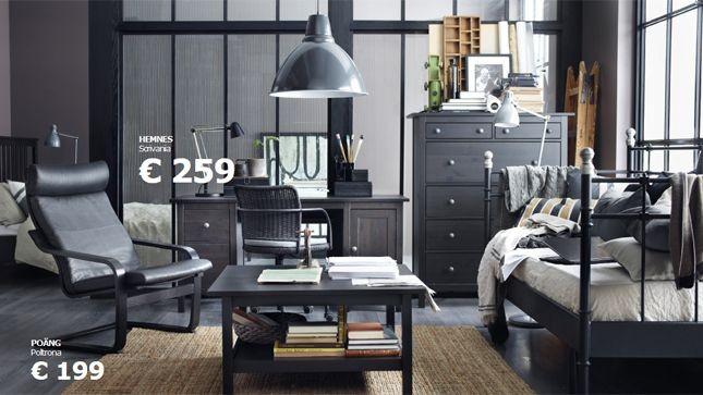 Nelle case dove la stanza dei ragazzi è piccola o manca, l'angolo studio può essere organizzato in soggiorno, come suggerisce Ikea