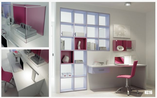 La libreria bifacciale Moretti Compact permette di inserire un angolo studio in diverse zone della casa, dalla stanza dei ragazzi al soggiorno