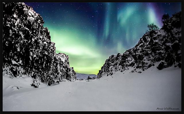 Aurora boreale a Þingvellir National Park_@flickr_Arnar Valdimarsson
