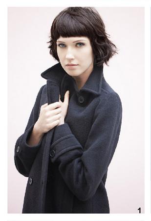 Cappotto nero Bensimon, della collezione autunno-inverno 2014-15