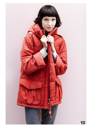 Parka rosso, di Bensimon, della collezione autunno-inverno 2014-15