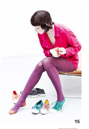 Cappotto rosso e sneakers colorate in cotone di Bensimon, della collezione autunno-inverno 2014-15