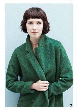 Cappotto oversize verde, di Bensimon, della collezione autunno-inverno 2014-15
