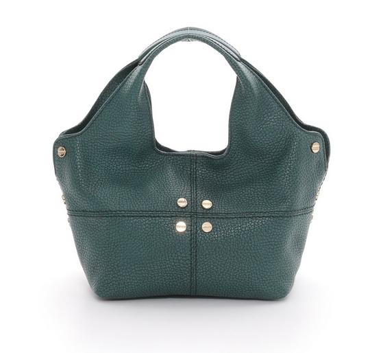 Borse a tracolla modello Savile Bag, nel colore verde scuro e manici removibili.