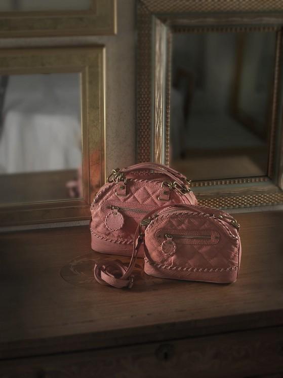 Borse modello Dressage Bag, rosa, di Borbonese della collezione 2014.