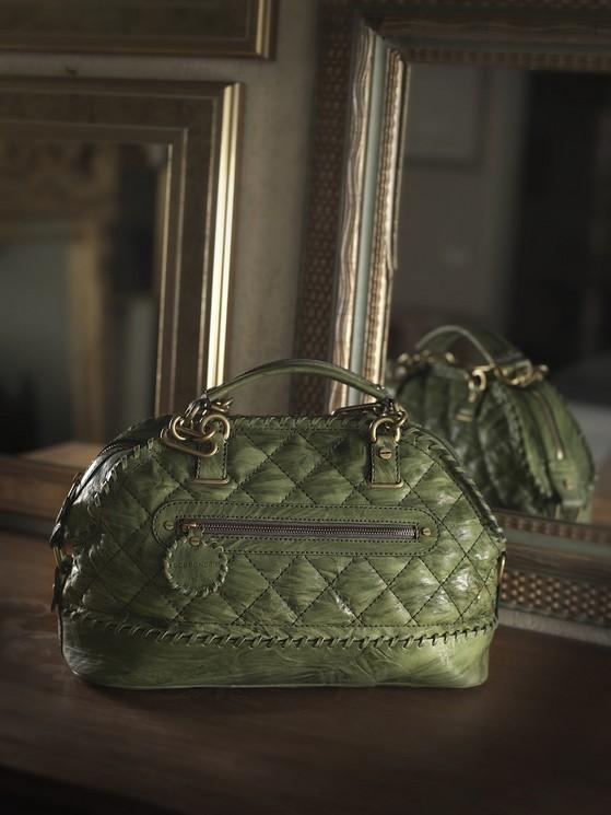 Borse modello Dressage Bag, verde, di Borbonese della collezione 2014.