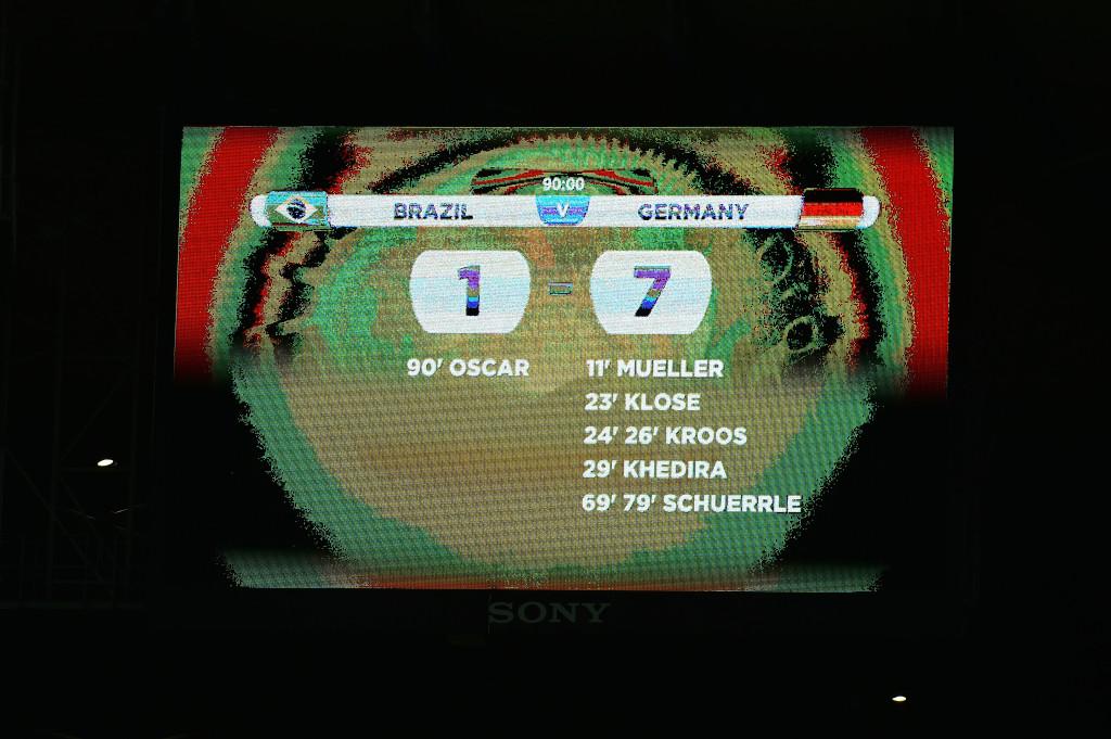 Il tabellone dello stadio Mineirao