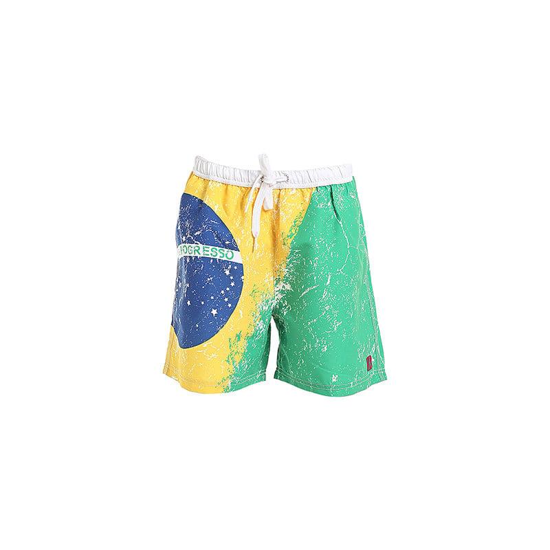 Boxer da uomo medio in microfibra e poliestere con bandiera brasiliana - 29,90 euro