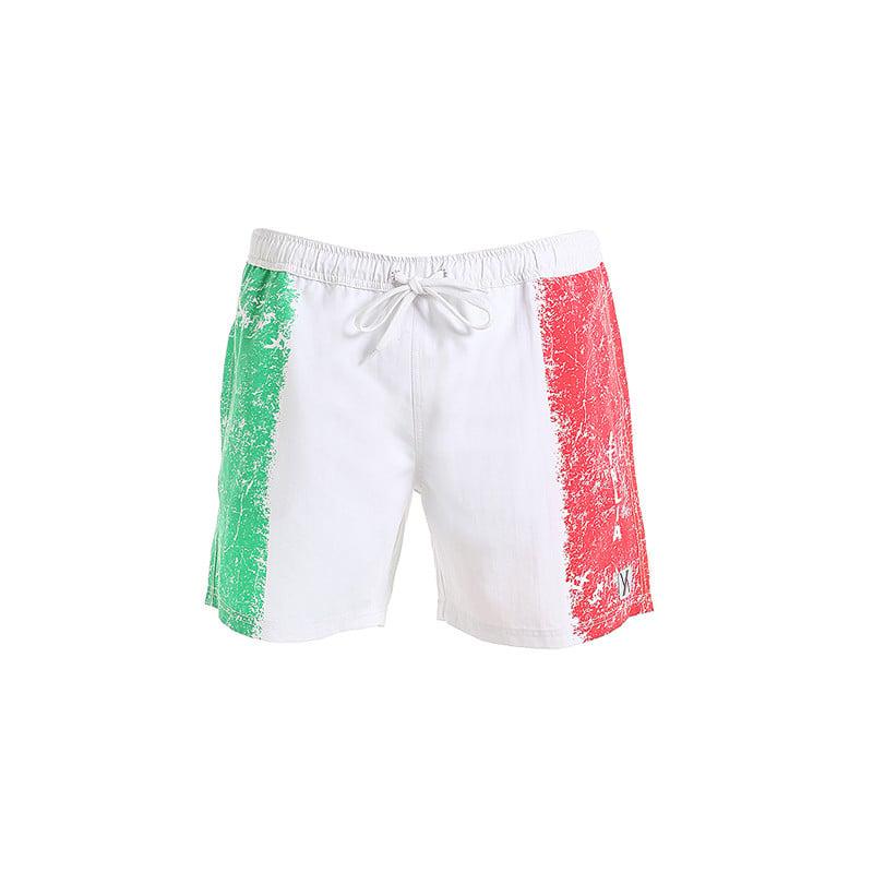 Boxer medio da uomo in poliestere e microfibra con bandiera italiana - 29,90 euro
