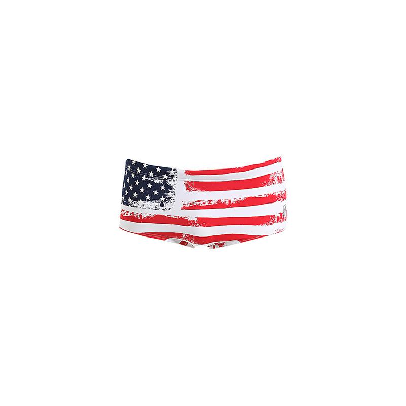 Slip maschile con bandiera americana in charmeuse opaca - 19,90 euro