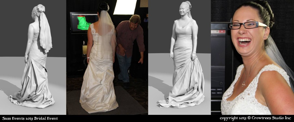 stampa 3d immagine sposa con abito nuziale