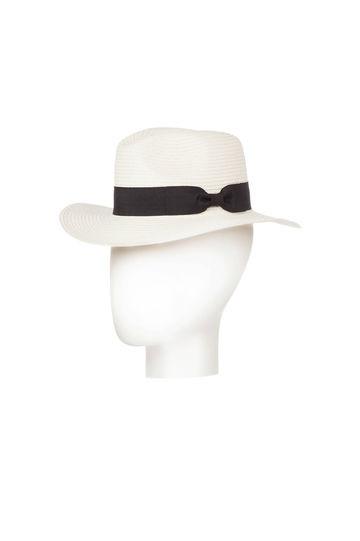 Cappello bianco, con nastro nero, di Oviesse