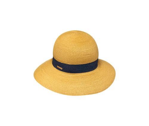 Cappello in paglia con fascia nera, di Borsalino