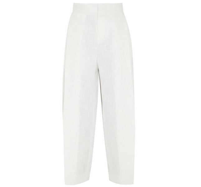 Chloè SS 14: pantalone di cotone bianco fresco e leggero, perfetto per una serata estiva