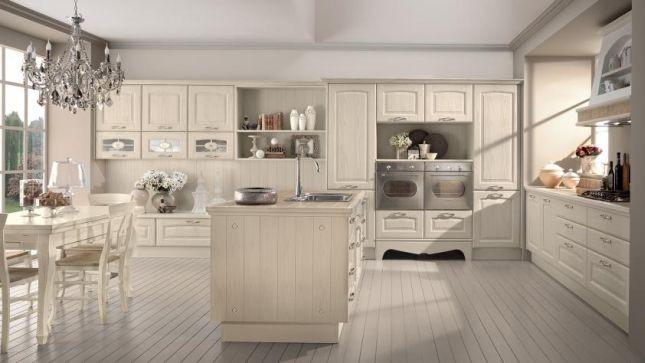 Cucina modello Veronica di Lube in stile country chic: comoda da vivere e funzionale