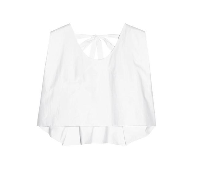 Blusa bianca: smaniato è il modello di Delpozo SS 14