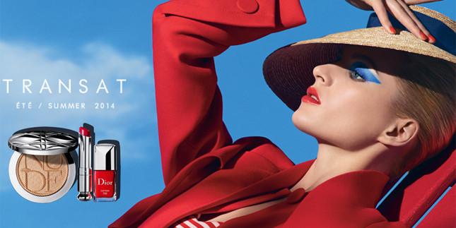 La collezione make up estate 2014 Dior Transat si ispira ai colori e allo stile della crociera