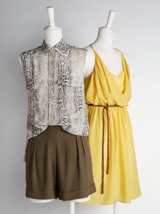 Camicia, shorts e vestito giallo, di Mango