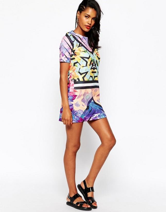 Vestito stampato multicolor Asos