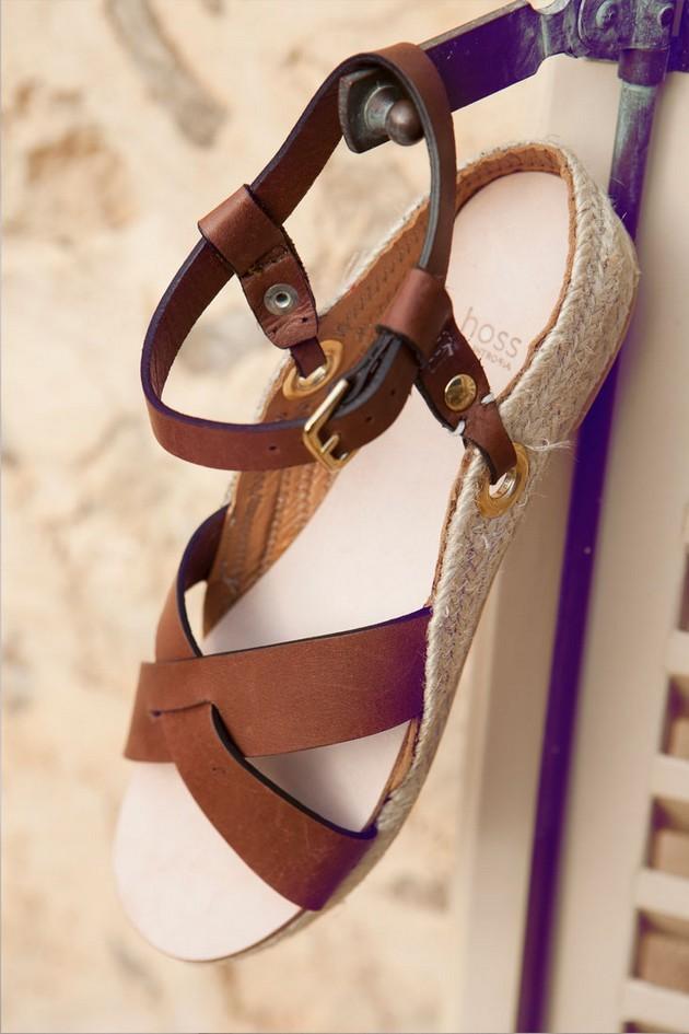 Hoss Intropia collezione estate 2014. Sandalo basso marrone