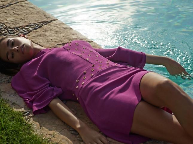 Hoss Intropia collezione estate 2014. Vestito oversize viola