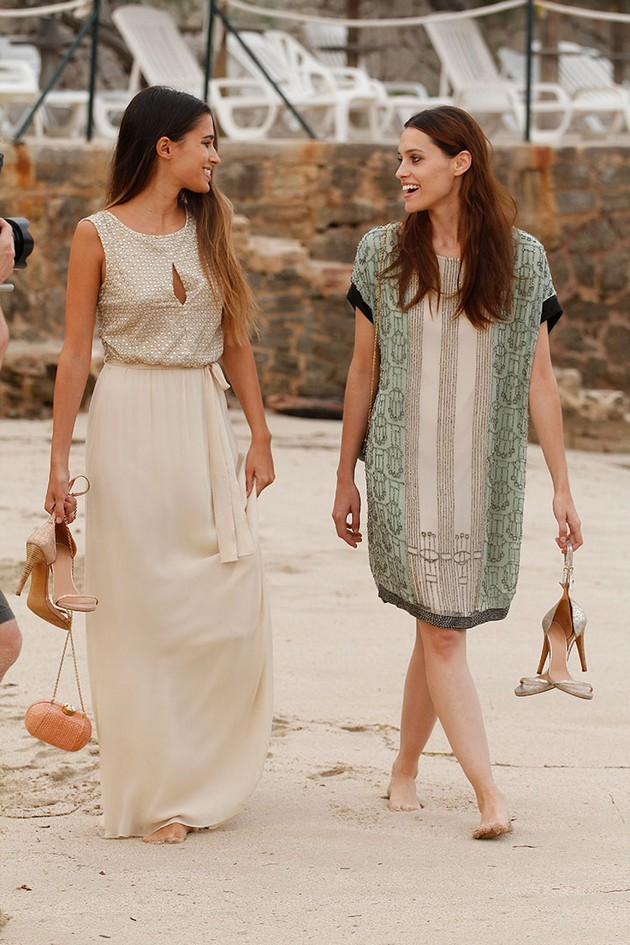 Hoss Intropia collezione estate 2014. Abito lungo bianco e maxi dress