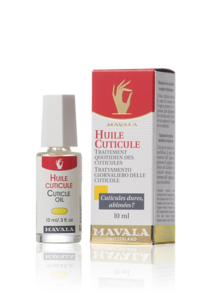 Per il trattamento quotidiano, Mavala realizza un olio che ammorbidisce la pelle e la rende elastica, favorendo il naturale distaccamento delle cuticole