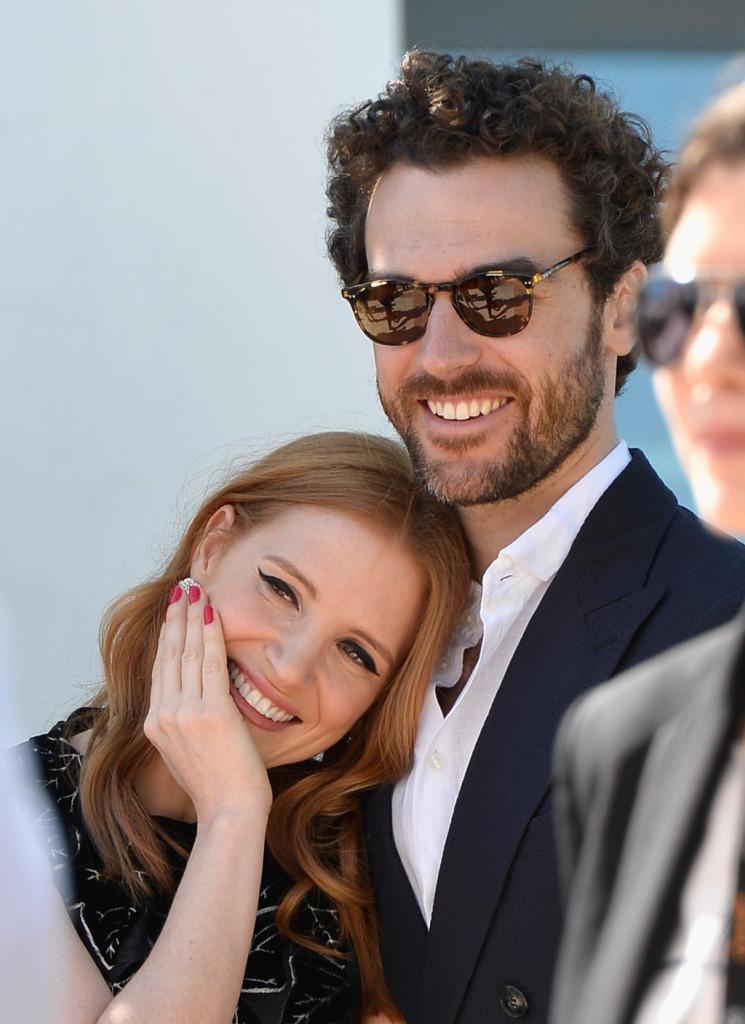 Jessica Chastain con il fidanzato