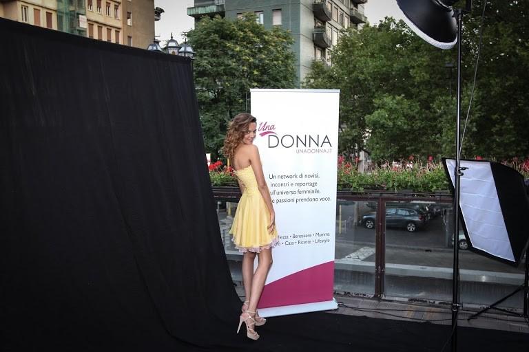 Il live shooting tenutosi lo scorso 26 giugno a Milano presso la Terrazza Atm. Qui UnaDonna.it ha presentato la collezione Kim Dubois Couture