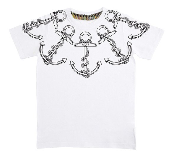 Mia's Italy: t-shirt unisex Ancora. 100% cotone. 100% Made in Italy. Prezzo 35 euro
