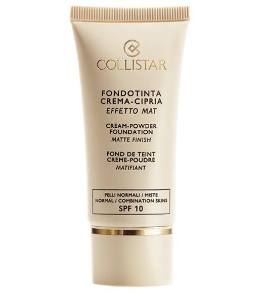 Il fondotinta Collistar Fondotinta Crema-Cipria effetto mat è ideale per pelli che tendono all'effetto lucido