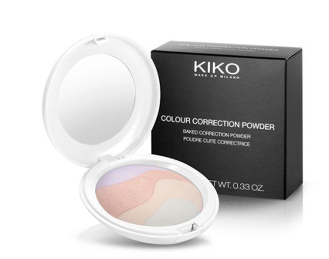 Disponibile in quattro tonalità, la cipria Kiko Cosmetics Colour Correction Powder è anche correttiva