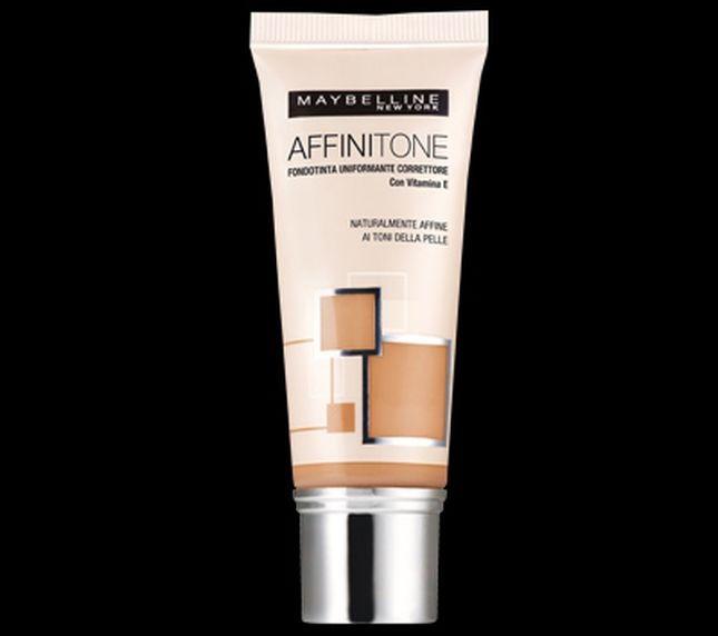 Maybelline Affinitone è un fondotinta correttore che uniforma il colore del viso, assecondandolo
