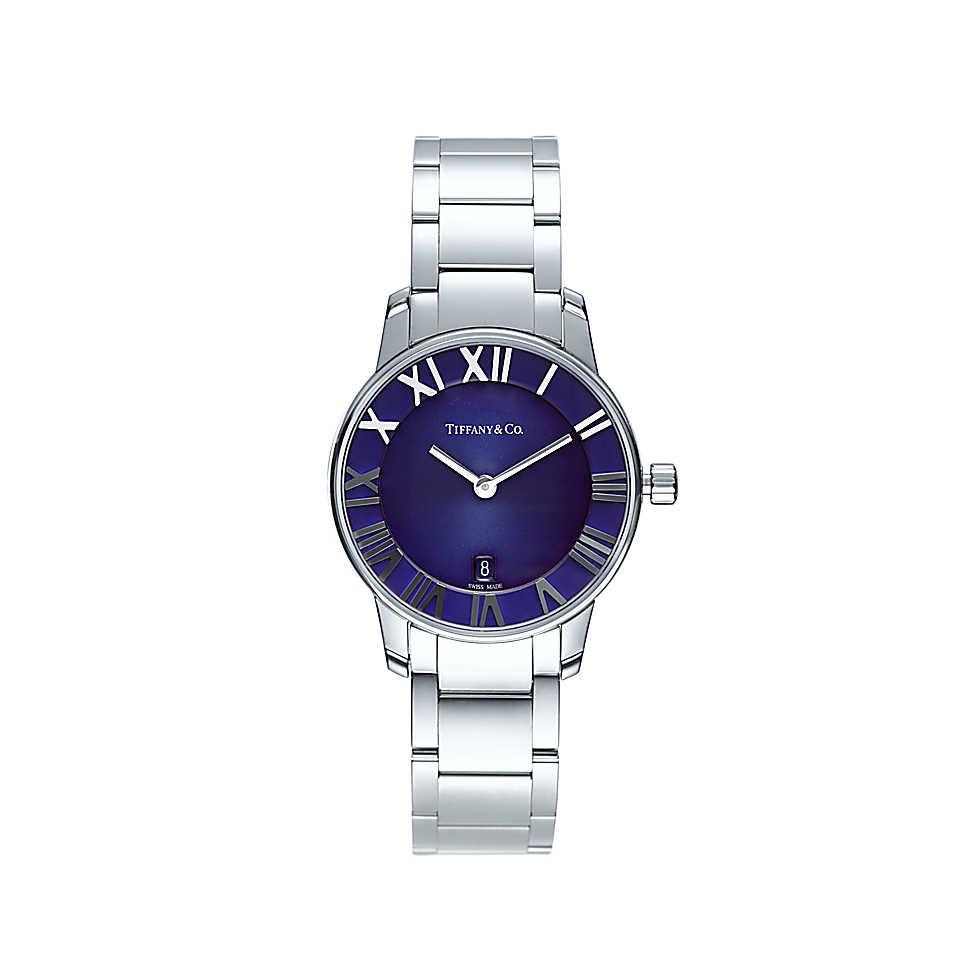 Orologio in acciaio inossidabile con quadrante blu. Cassa di 29 mm, movimento al quarzo, subacqueo fino a 50 metri (5 bar)