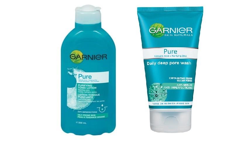 Garnier Pure Tonico Astringente, associa l'acido salicilico e lo zinco dalle proprietà sebo-regolatrici in una formula che aiuta a restringere i pori dilatati.